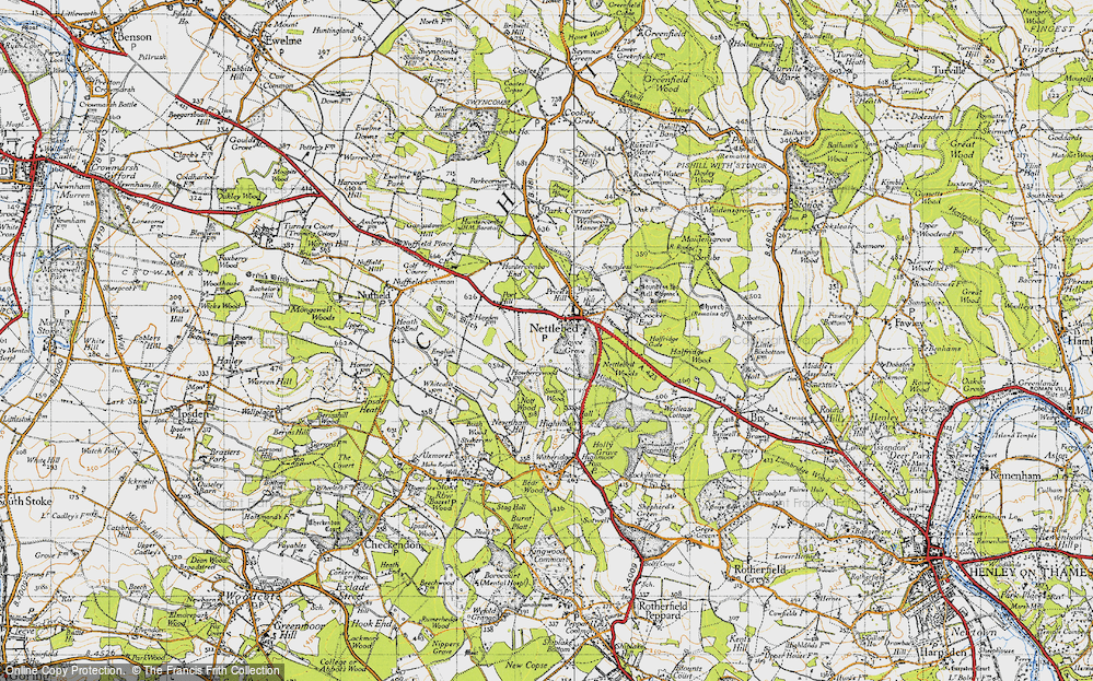 Old Map of Nettlebed, 1947 in 1947
