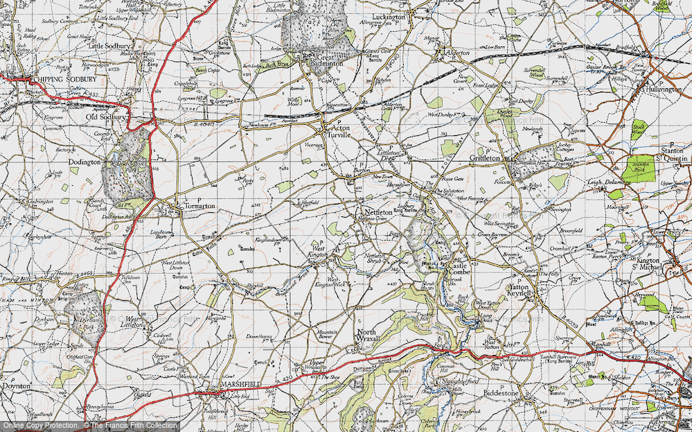 Old Map of Nettleton, 1946 in 1946