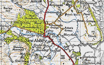 Old map of Ardwall in 1947