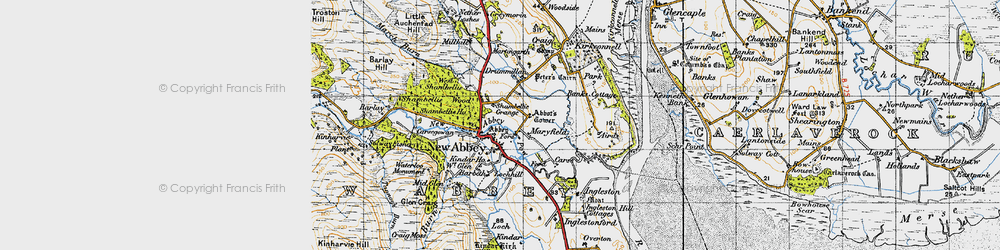 Old map of West Shambellie in 1947
