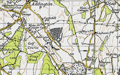 Old map of New Addington in 1946