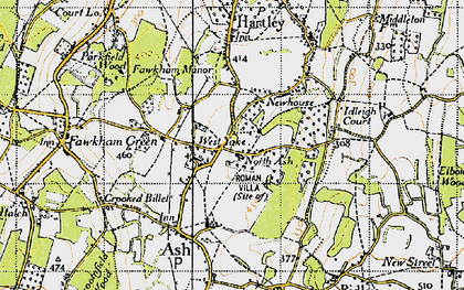 Old map of New Ash Green in 1946