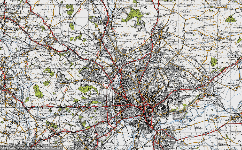 Old Map of New Basford, 1946 in 1946