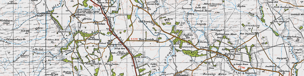 Old map of Tick Law in 1947