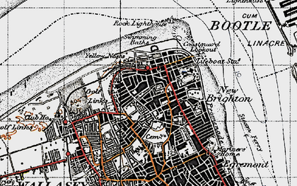 Old map of New Brighton in 1947