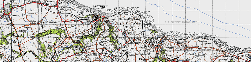 Old map of New Brotton in 1947