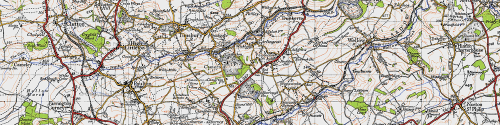 Old map of Woodborough Ho in 1946