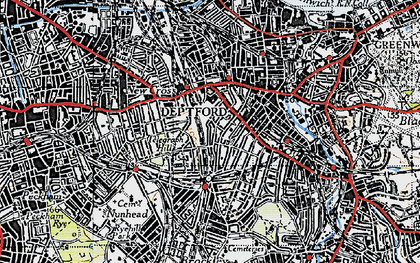 Old map of New Cross in 1946