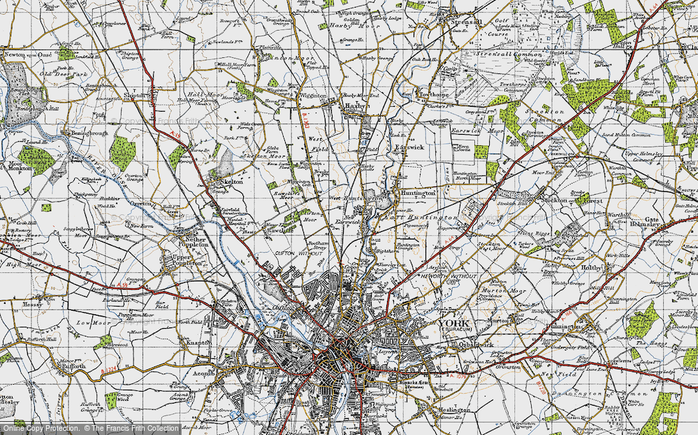 Old Map of New Earswick, 1947 in 1947