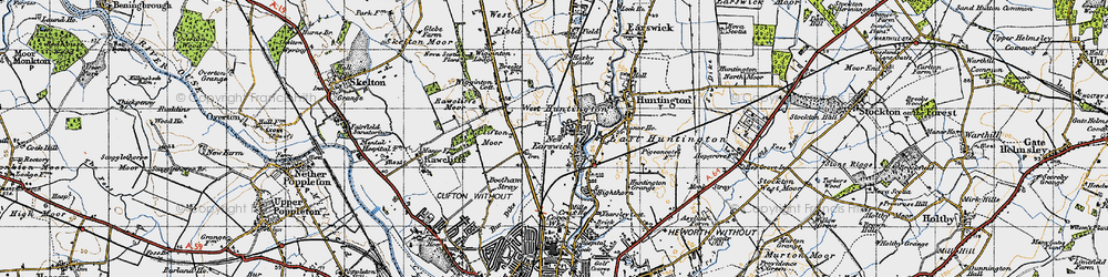 Old map of New Earswick in 1947