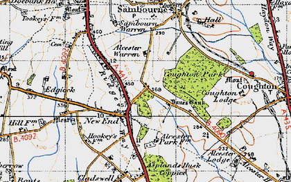 Old map of Asplands Husk Coppice in 1947
