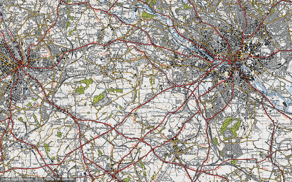 Old Map of New Farnley, 1947 in 1947