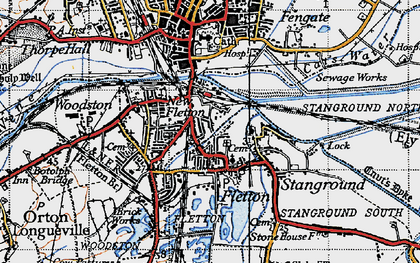 Old map of New Fletton in 1946