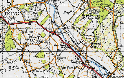 Old map of New Ground in 1946
