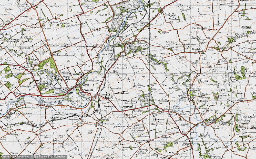 Old Map of Historic Map covering Tiptoe in 1947