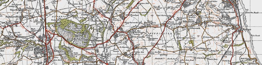 Old map of New Herrington in 1947