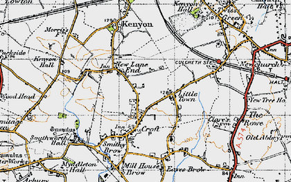 Old map of New Lane End in 1947
