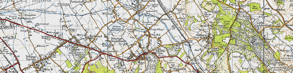 Old map of New Mill in 1946