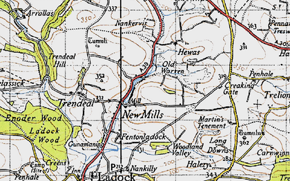 Old map of New Mills in 1946