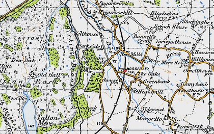 Old map of Yarwood Ho in 1947