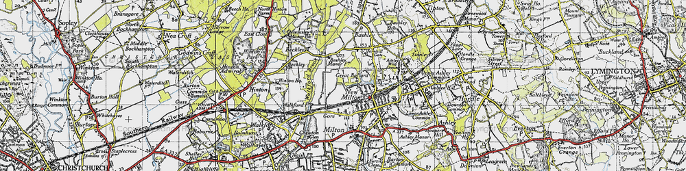Old map of New Milton in 1940