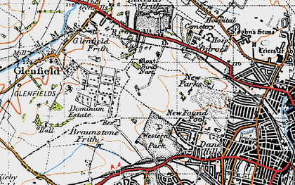 Old map of New Parks in 1946