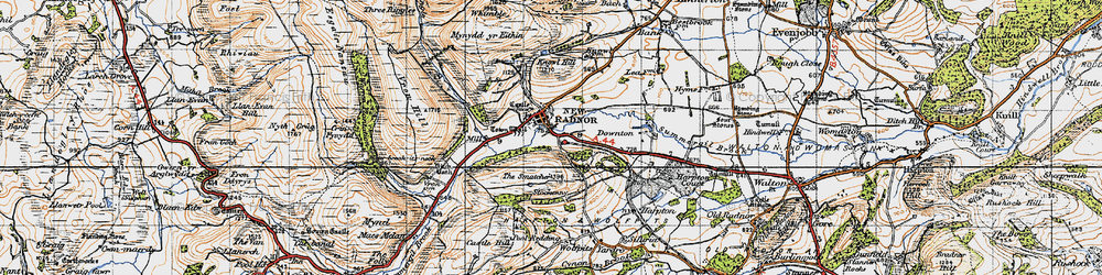 Old map of Whinyard Rocks in 1947