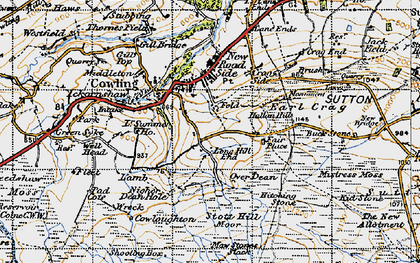 Old map of Bare Hill in 1947
