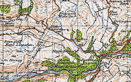 Old map of New Row in 1947
