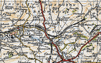 Old map of New Smithy in 1947