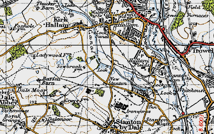 Old map of New Stanton in 1946