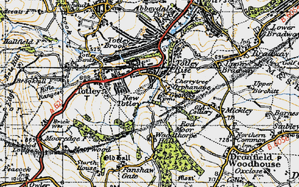 Old map of Woodthorpe Hall in 1947