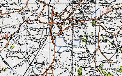 Old map of Alston Grange in 1947