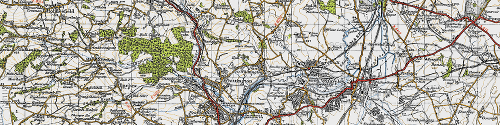Old map of New Whittington in 1947