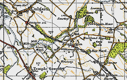 Old map of Williamsgill in 1947