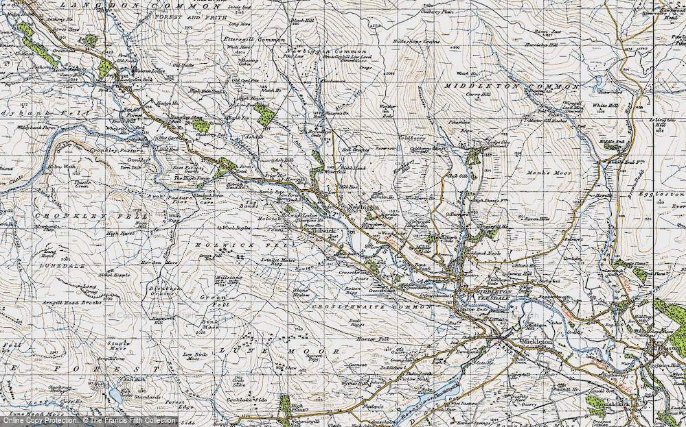 Old Map of Newbiggin, 1947 in 1947