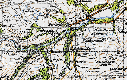 Old map of Balehill Ho in 1947