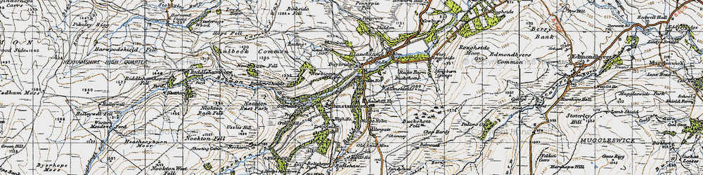 Old map of Allenshields in 1947