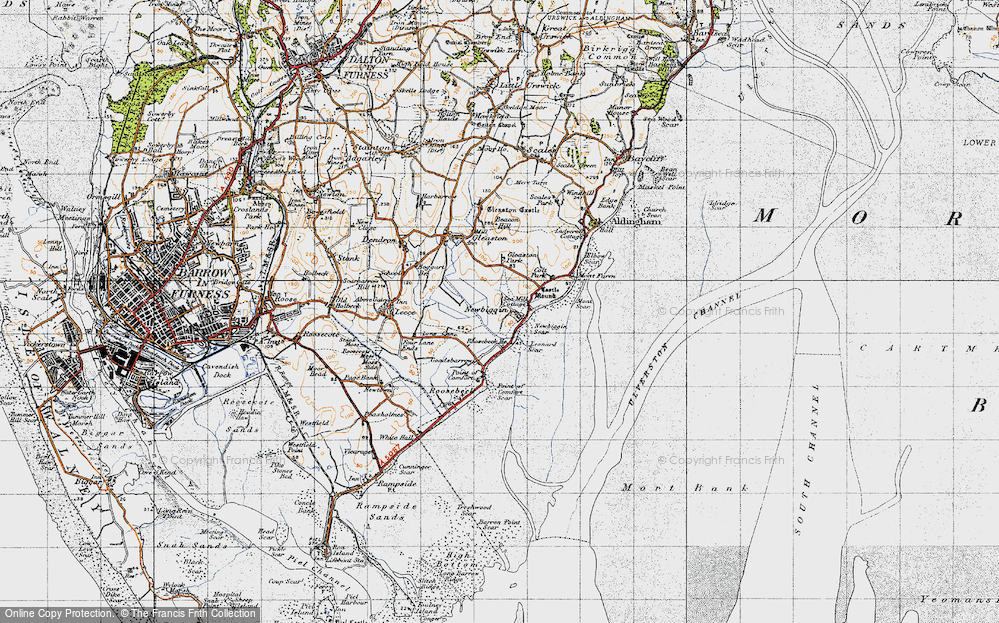 Old Map of Historic Map covering Leonard Scar in 1947