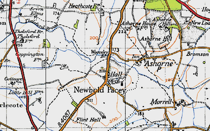 Old map of Woozeley Br in 1946