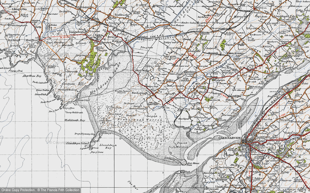 Old Map of Newborough, 1947 in 1947