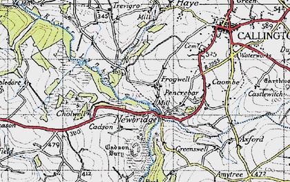 Old map of Newbridge in 1946