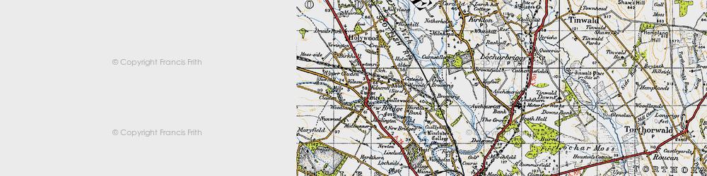 Old map of Newbridge in 1947