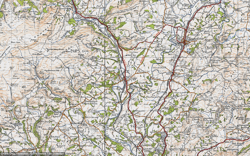 Old Map of Historic Map covering Aberithon in 1947