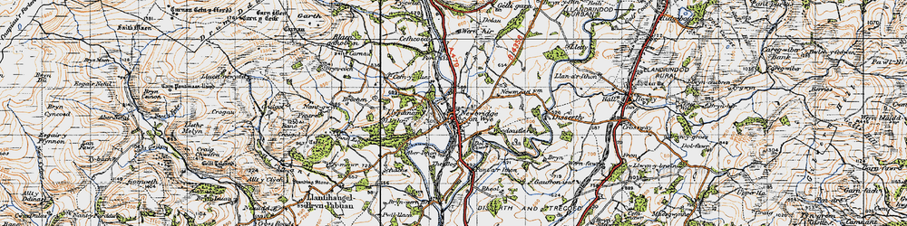 Old map of Aberithon in 1947