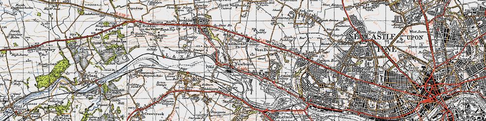 Old map of Newburn in 1947