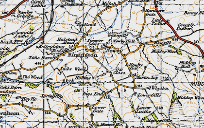 Old map of Whytha in 1947