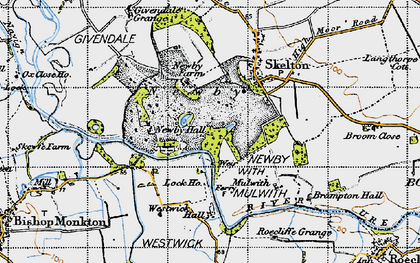 Old map of Newby in 1947
