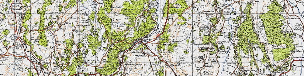 Old map of Whitestone Enclosure in 1947