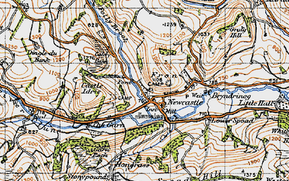 Old map of Newcastle in 1947